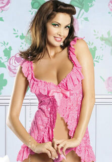 Floral Lace Pink Baby Doll
