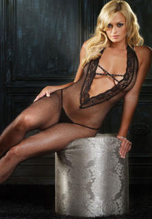 Halter Fishnet Body Stocking