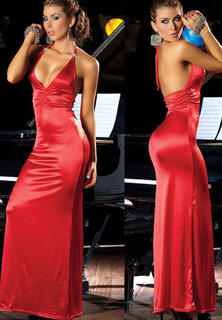 Long V Neck Gown