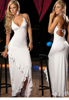 Halter Gown White