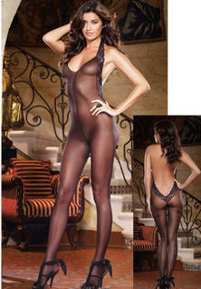 Sheer Halter Body Stocking