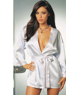 Satin Robe White