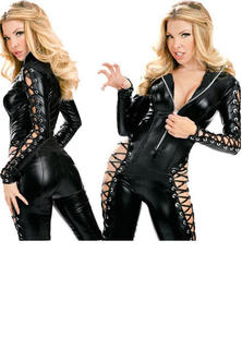Vinyl Catsuit Lace Up