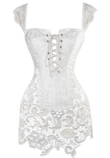 Brocade Lace Up Corset