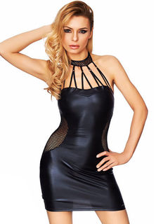 Choker Wet Look Club Dress