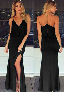 Halter Chain Long Gown