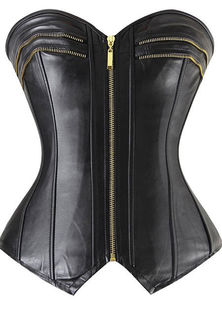 Leather Zipper Front