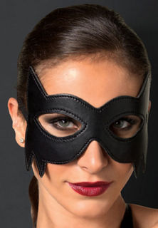 Leather Batman Eye Mask