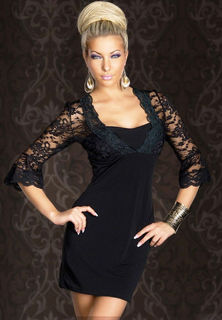 Lace Sleeve Club Dress