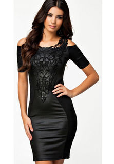 Embroidered Lace Club Dress