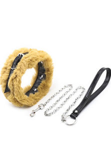 Fluffy Collar And Leash