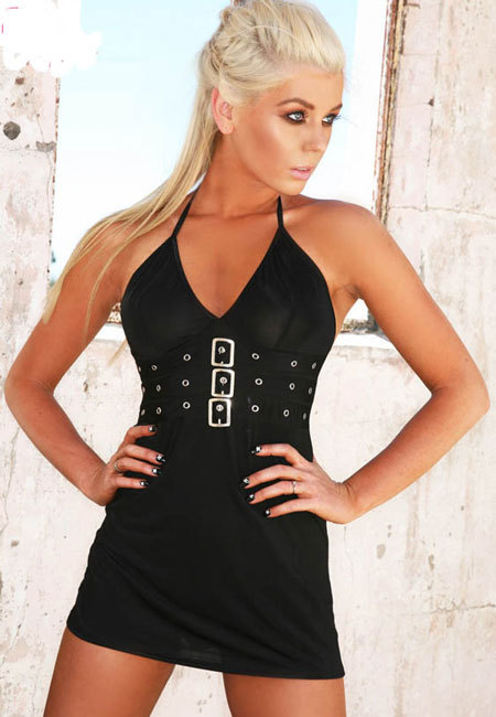 Buckle Mini dress