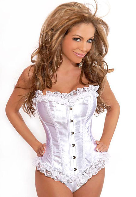 Satin Metal Eye Corset