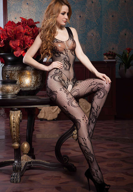Floral Body Stocking
