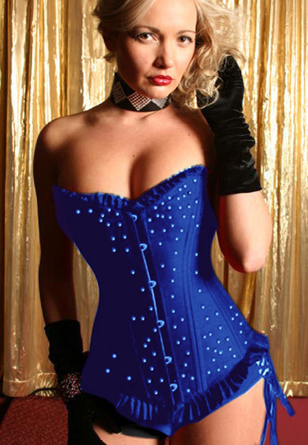 Blue Diamante Corset