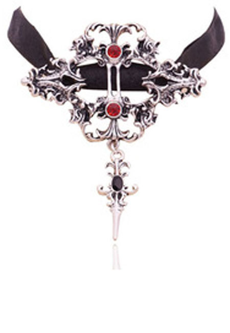 Vampire Cross Necklace