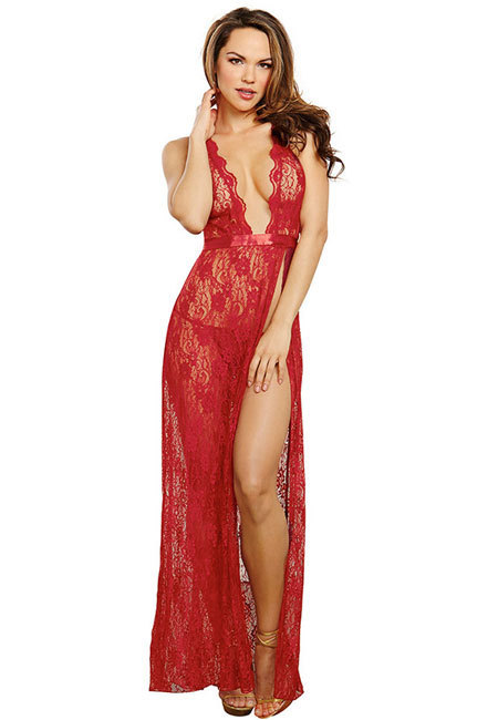 Halter Lace Long Gown