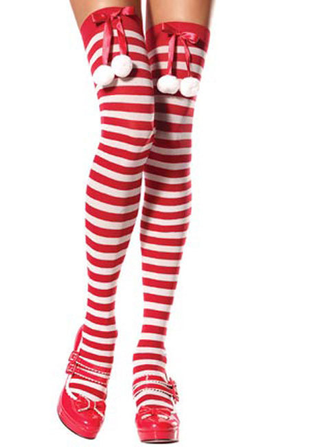 Striped Santa Stockings