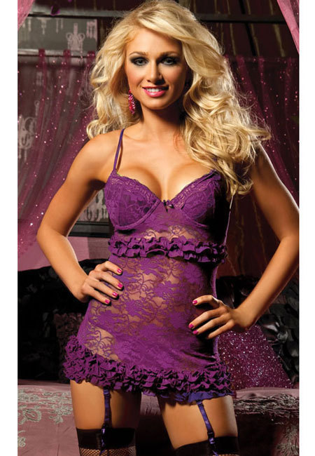 Ruffled Garter Baby Doll